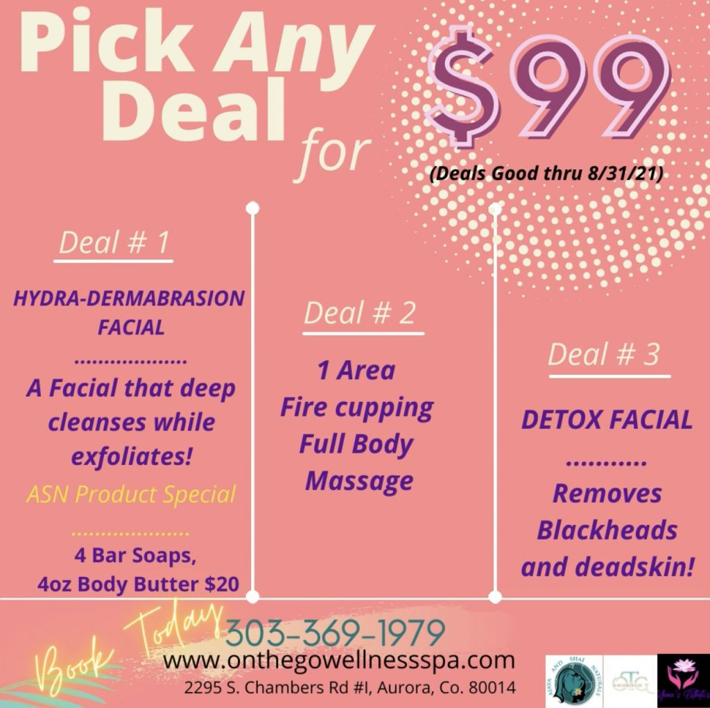Image: On The Go Wellness Spa August deal